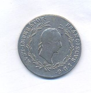 Rakousko, 20 krejcar, 1830 E, František II.