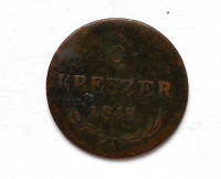 Rakousko 6 Krejcar 1848A Ferdinand V. dobové falzum