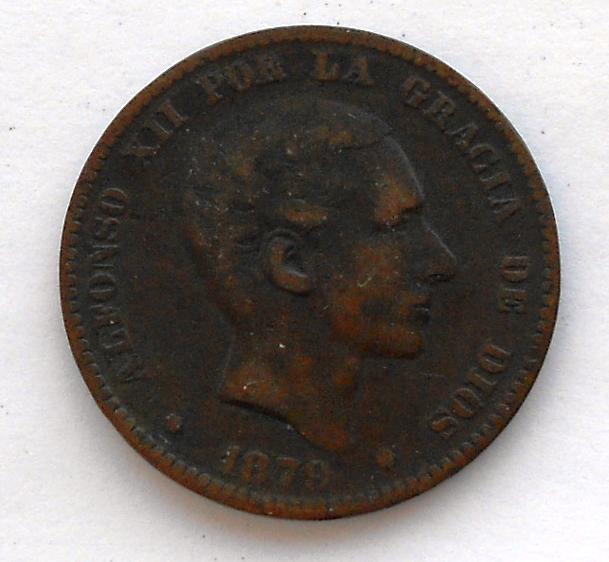 Španělsko Diez Centimos 1879