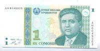 Tádžikistán, 1 somoni 1999
