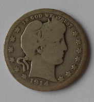 USA 1/4 Dolar 1914
