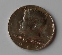 USA 1/2 Dolar Kennedy 1969
