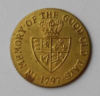 V. Británie 1 Guinea 1797 Jiří lll. MS odražek