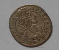 Čechy-Praha 3 Krejcar 1709 Josef I.