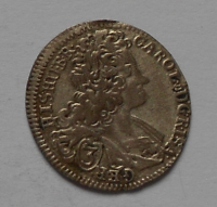Čechy-Praha 3 Krejcar 1718 Karel VI.