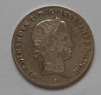 Rakousko 10 Krejcar 1836A Ferdinand V.  FERDINANDUS opis