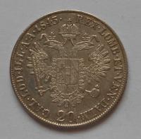 Rakousko 20 Krejcar 1843M Ferdinand V.