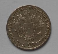 Rakousko 20 Krejcar 1846E Ferdinand V.