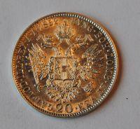 Rakousko 20 Krejcar 1852 A, STAV!