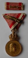 Rakousko - Uhersko - František Josef l. Signum Laudis s meči + miniatura