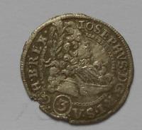 Slezsko  3 Krejcar 1711FN Josef I.