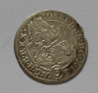 Slezsko-Břeh 3 Krejcar 1706B Josef I.