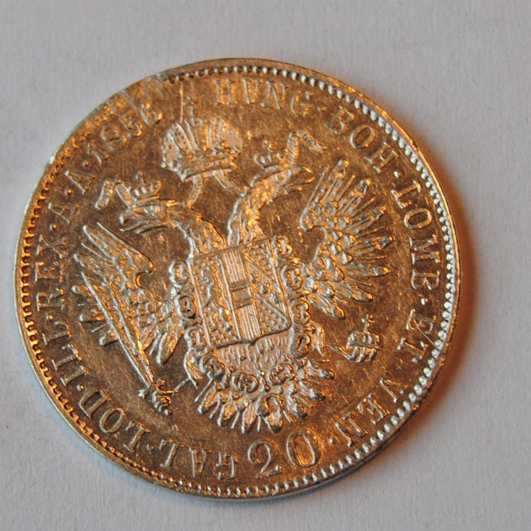 Uhry 20 Krejcar 1856 B