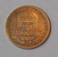 Uhry 20 Krejcar 1869 GYF