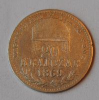 Uhry 20 Krejcar 1869 KB