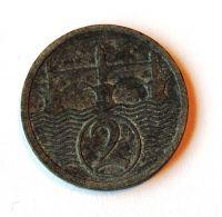 ČSR 2 Haléř STAV 1924