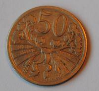 ČSR 50 Haléř 1927, STAV!