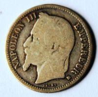 Francie 1 Frank 1869 Napoleon III.