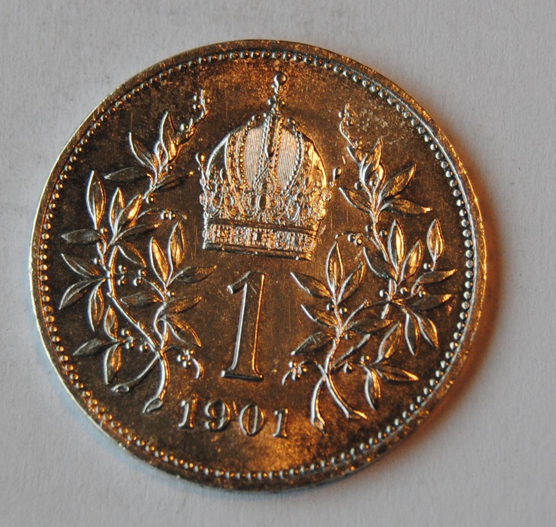Rakousko 1 Koruna 1901, STAV!