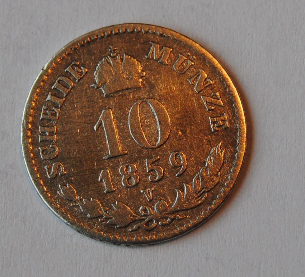 Rakousko 10 Krejcar 1859 V