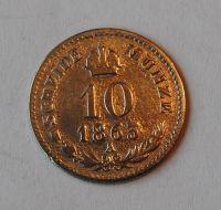 Rakousko 10 Krejcar 1863 A