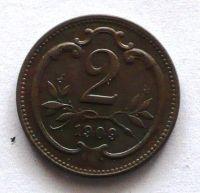 Rakousko 2 Haléř 1909