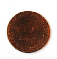 Rakousko 5/10 Soldo 1862 A