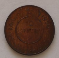 Somálsko 10 Centesimi 1950