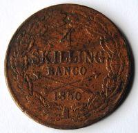 Švédsko 4 Skilling 1850 Oscar I.