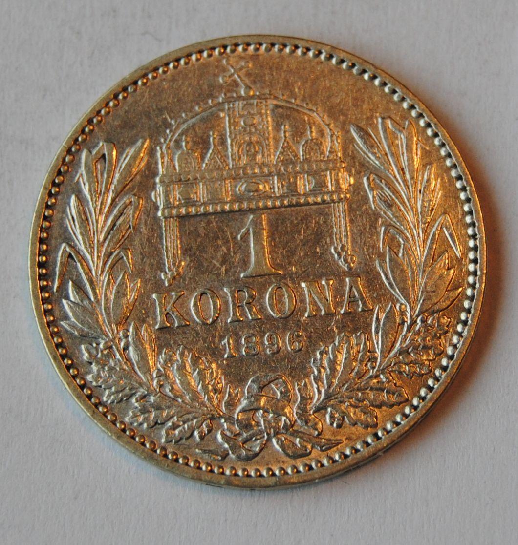 Uhry 1 Koruna 1896 KB, STAV!