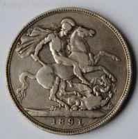 V.Británie 1 Cronen 1891 Viktorie