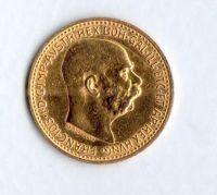 10 Koruna(1911-Au 900-3,4g-ražba bz), stav 1+/0 dr.hr.