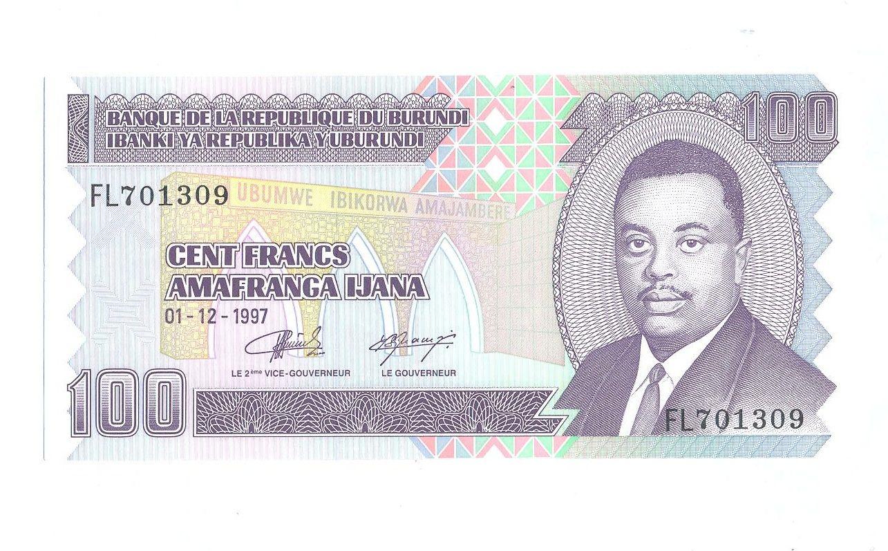 100 Frank, 1997, Burundi