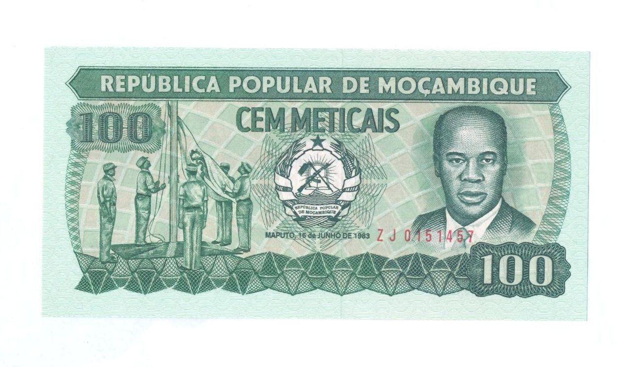 100 Meticais, 1983, Mozambik
