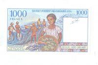 1000 Ariary, hlava muže, Madagaskar