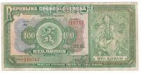 100Kč/1920/, stav 3- perf. SPECIMEN, série Ar