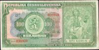 100Kč/1920/, stav 3+, série Af