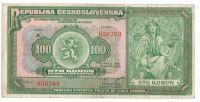 100Kč/1920/, stav 3+, série K