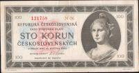 100Kčs/16.5.1945/, stav 1-, série N 06