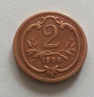 2 Haléř, 1896, Rakousko