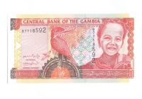 5 Dalasi, hlava děvčátka, Gambie