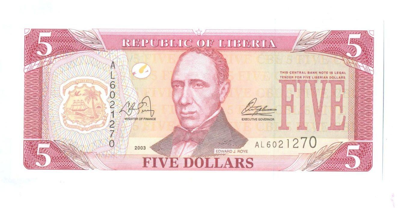 5 Dollars, 2003, Libérie