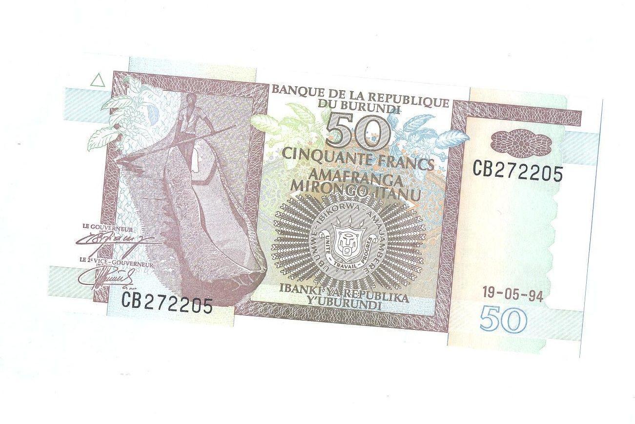 50 Frank, 1994, Burundi
