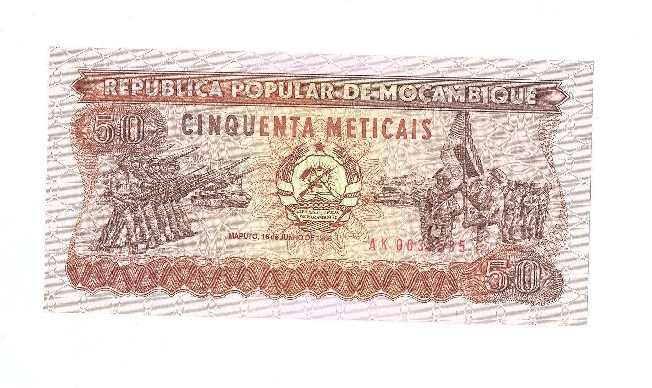 50 Meticais, 1986, Mozambik