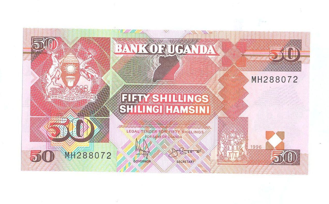 50 Schillings, 1996, Uganda