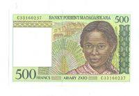 500 Ariary, hlava dívky, Madagaskar