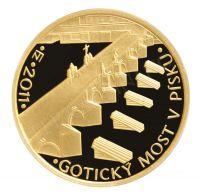 5000 Kč(2011-Gotický most v Písku), stav PROOF, etue, certifikát