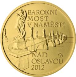5000 Kč(2012-Barokní most v Náměšti nad Oslavou ), stav bk, etue a certifikát