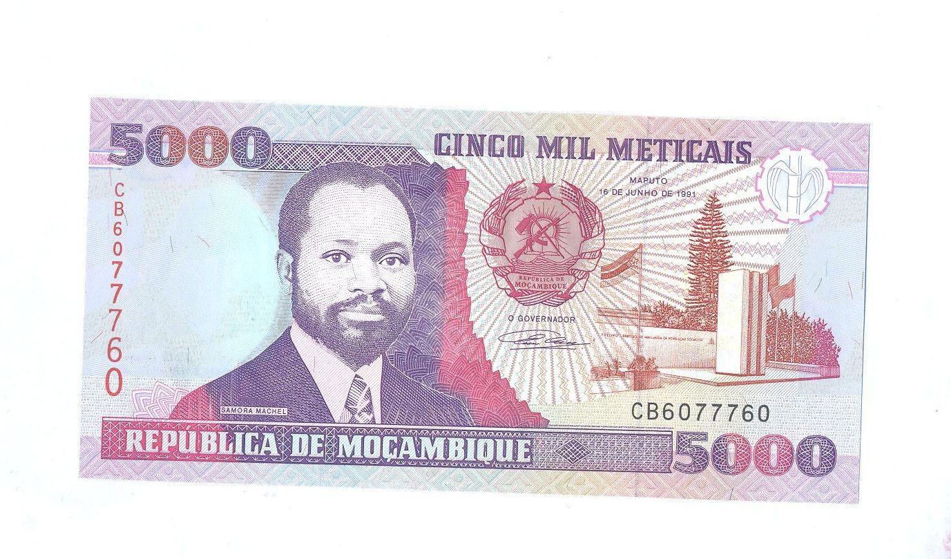 5000 Meticais, 1991 Mozambik