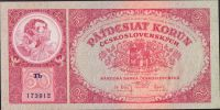 50Kč/1929/, stav 0, série Tb
